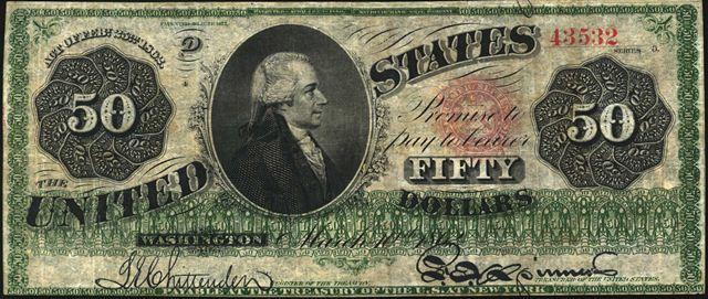 Antique Money Values Of 50 1862 Legal Tenders