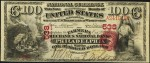Values of $100 1875 First Charter National Bank Notes