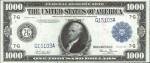 Price Guide for $1,000 1918 Federal Reserve Notes