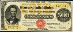 Values of $500 1922 Gold Certificates