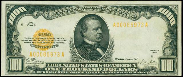How Much Is An 1928 $1,000 Bill Worth?   Sell 1928 Gold Certificate ...