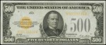 Values of $500 1928 Gold Certificates
