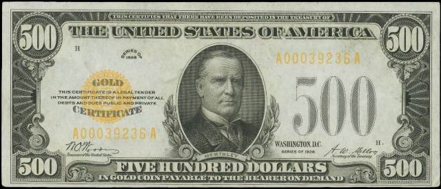 How Much Is An 1928 $500 Bill Worth? | Sell 1928 Gold Certificate ...