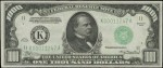 Price Guide for $1,000 1934 Federal Reserve Notes