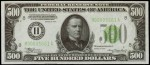 Values of $500 1934 Federal Reserve Notes