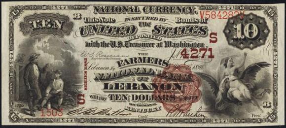 Series of 1882 $10 Brown Back (1882-1901)