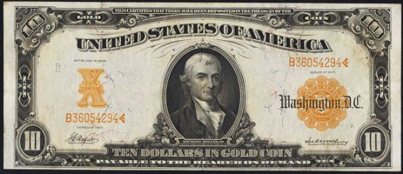Ten Dollar Gold Certificate (1907-1922)
