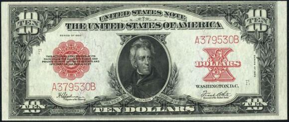 Ten Dollar Legal Tender Note (1923 only)