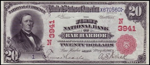 How Much Is A 1908 $20 Bill Worth?