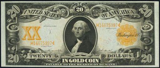 Gold Certificate – 1906 & 1922 – Twenty Dollars