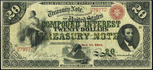 Interest Bearing Note – Twenty Dollars