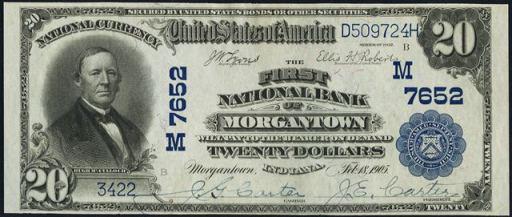 National Currency – 1902 Blue Seal – Twenty Dollars