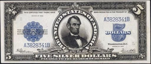 Series of 1923 $5 Silver Certificate
